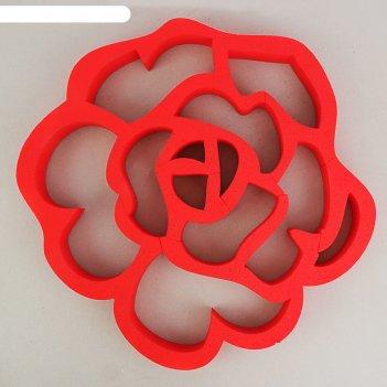 Декор из пенопласта роза ажурная, 50 х 5 см