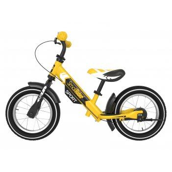 Беговел с 2 тормозами small rider roadster sport 4 air (желтый)