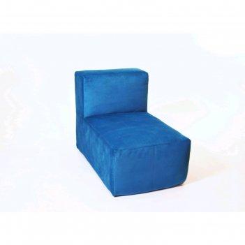 Кресло-модуль «тетрис», размер 50 x 80 см, синий, велюр