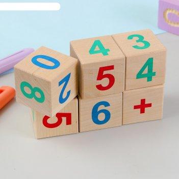 Кубики веселый счёт, 6 шт.