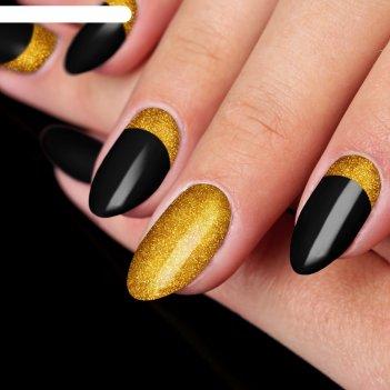 Пудра для декора ногтей, цвет золотистый
