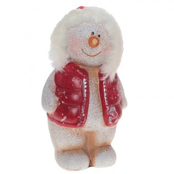 Фигурка декоративная снеговик, н 13,5 см