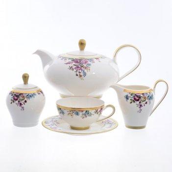 Чайный сервиз на 6 персон 9 предметов pbc-carinzia gold