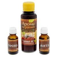 Набор 2 аромамасла и ароматизатор для бани русский пар