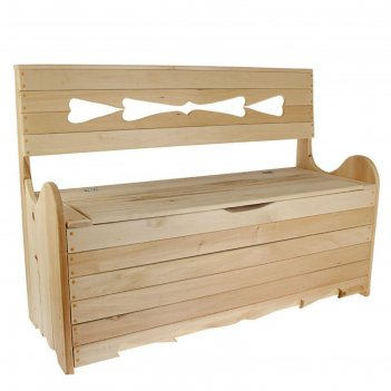 Скамейка с ящиком для белья 120*90*45 см добрая баня