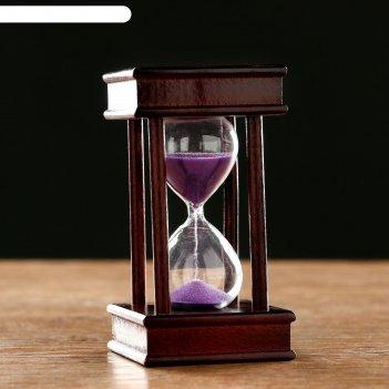 Часы песочные на 5 минут эссаурия,  6х11.5 см, чёрные