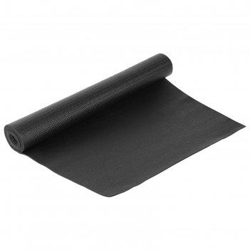 Коврик для йоги 173х61х0,3 см, цвет черный
