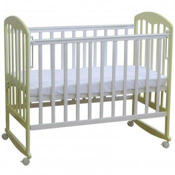 Кроватка детская «фея 323» белая-ваниль