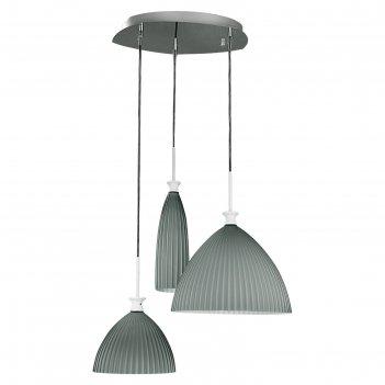 Светильник agola 3х40вт e14 хром, серый 41x150см