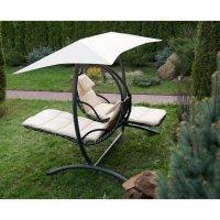 Двойное подвесное кресло качели luna-consept, бежевая