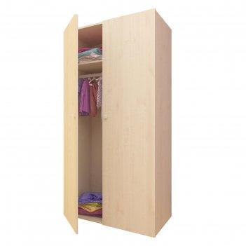 Шкаф двухсекционный polini kids simple, цвет натуральный