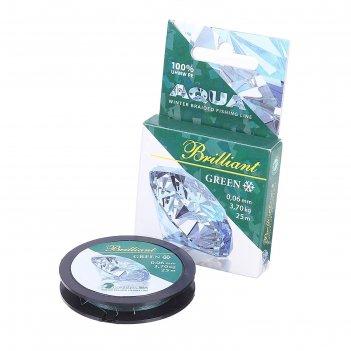 Леска плетёная aqua green brilliant 25м 0,06 мм