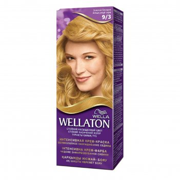 Крем-краска wellaton золотой блондин 9/3, 60 мл