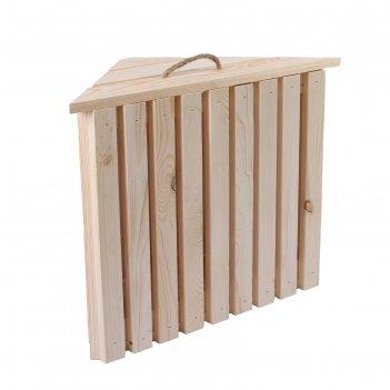 Ящик для овощей, 60 x 40 x 50 см, деревянный, угловой с полкой