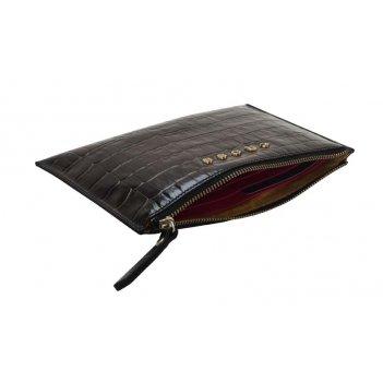 Клатч мини cross bebe coco, кожа наппа фактурная, цвет чёрный/розовый,  21