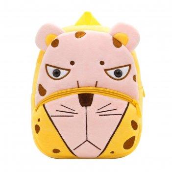 Рюкзак детский леопард sun eight se-sp002-33 желтый/розовый