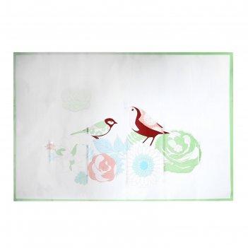 Наклейка на кафельную плитку птицы в цветах 60х90 см