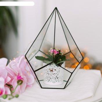 Флорариум пирамидка средняя (швы медь)