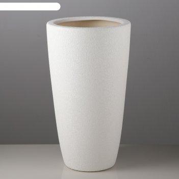 Кашпо цилиндр шёлк, белое, 17 л