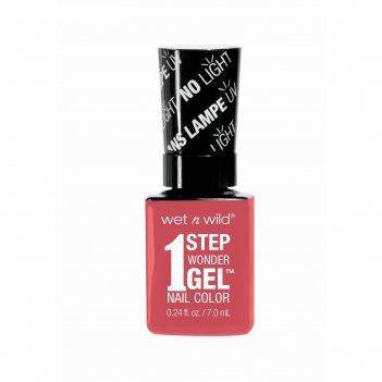Гель-лак для ногтей wet n wild 1 step wonder gel e7251, тон coral support,