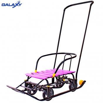 Снегомобиль snow galaxy black auto сливовые рейки на больших мягких колеса