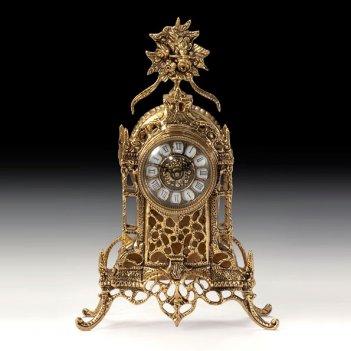 Часы каминные соборные цветы