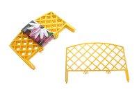 Забор декоративный №6 плетенка желтый зд 06  длина 3 м (набор 7шт)