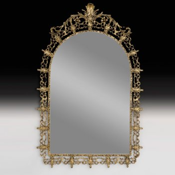 Зеркало настенное король в бронзовой оправе