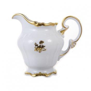 Молочник 150мл.роза золотая