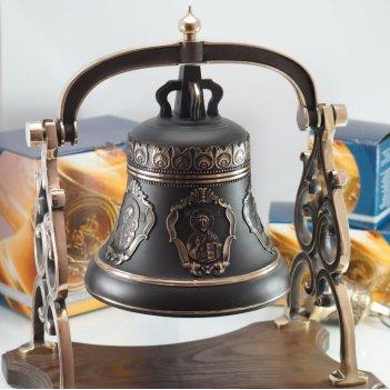 Колокол 5кг на бронзовой качалке пять ликов святых