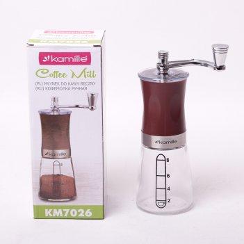 Кофемолка ручная kamille 6.5*18.5см механическая