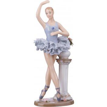 Статуэтка балерина высота=19 см. серия фарфоровые кружева (кор=12шт.)