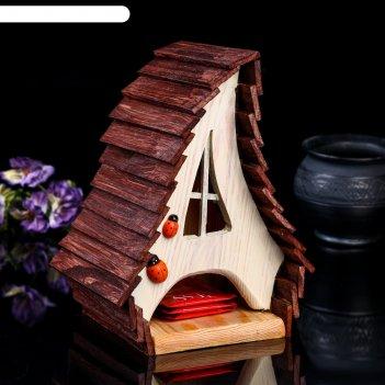 Чайный домик избушка, 17*14*23см; материал: дуб, сосна; покрытие:  масло