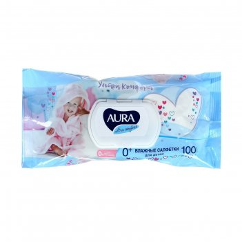 Салфетки влажные aura ultra comfort  для детей с экстрактом алоэ и витамин