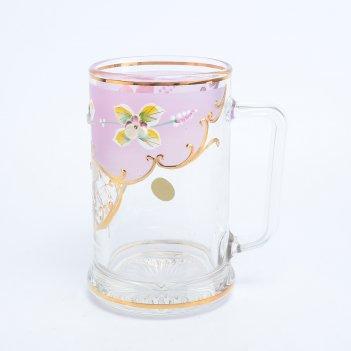 Пивная кружка розовая bohemia uhlir 500 мл