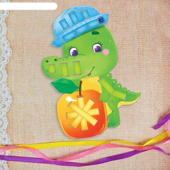 Вышивка лентами веселый крокодил для самых маленьких