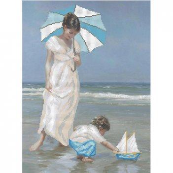 """Рисунок для вышивания бисером """"мама и море"""""""