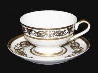 "Набор для чая ""александрия голд/белый""(чашка 200мл.+блюдце) на 6"