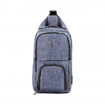 Рюкзак wenger с одним плечевым ремнем, синий, полиэстер, 19 х 12 х 33 см,