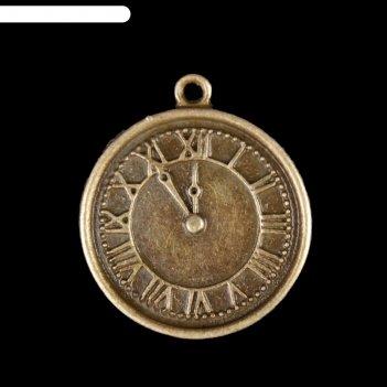 Декор для творчества металл часы с римскими цифрами бронза 2,1х1,8 см