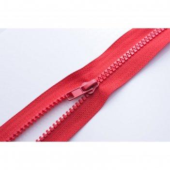 Молния тракторная, разъёмная, размер 95 см, цвет красный