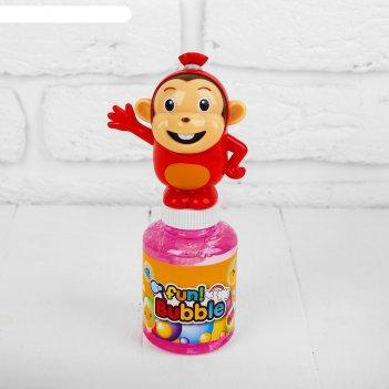 Мыльные пузыри обезьянка 5,5х5,5х16,5 см микс