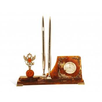 Письменный прибор из янтаря