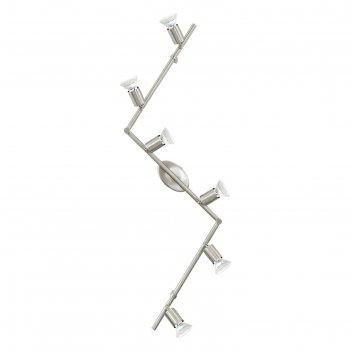 Светильник buzz-led 6x2,5вт led никель 105x6,5см