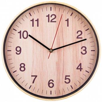 Часы настенные кварцевые клен танзау диаметр=30 см диаметр циферблата=27,5