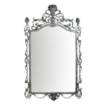 Зеркало настенное ешпига, бронза с покрытием  серебро