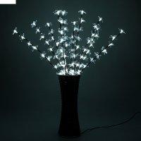 Светодиодная ваза 80х16 см, цветок сакуры 72 led, 220v, фиксин, белый