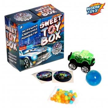 Игрушка сюрприз sweet toy box, конфеты, тачки