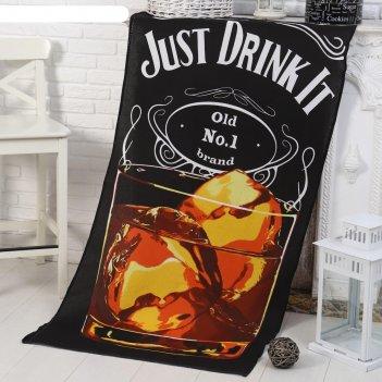 Полотенце -панно виски (пакет) 80х150 см, вафля, хлопок 100%, 170г/м2