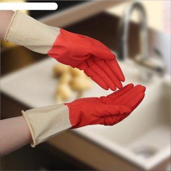 Перчатки хозяйственные плотные, размер l